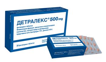 Detralex / Детралекс при разширени вени и хемороиди 60табл.