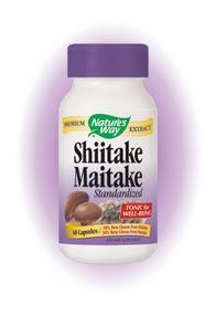 Shiitake & Maitake / Шийтаке и Майтаке Екстракт При висок холестерол и кръвно налягане, за имунитет 60капс.