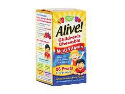 Alive / Алайв Дъвчащи Мултивитамини за деца 120табл.