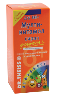 Multivitamol / Мултивитамол формула L сироп за деца над 6год. 200мл.