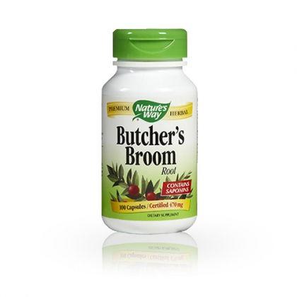 Nature's way Butchers Broom / Бодлив залист за подобряване на кръвообръщението 100капс.