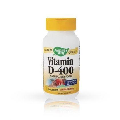 Nature's way Витамин D 400 за нормална костна минерализация 100капс.
