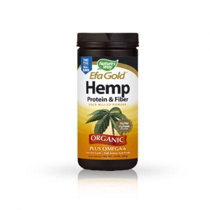 Hemp & Protein & Fiber / Коноп, протеин и фибри за облекчаване на ПМС, проблемни стави и простата 454гр.