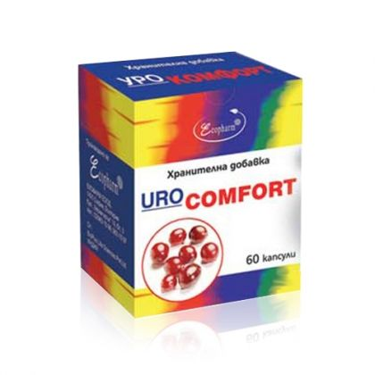 Ecopharm Urocomfort / Урокомфорт за укрепване на пикочните пътища 60капс.