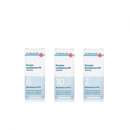Комбинация със Шуслерови соли При кожни алергии 2, 6, 10