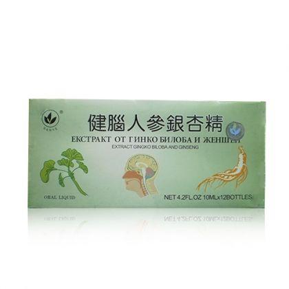 Жен-шен + Гинко Билоба за подобряване на имунната и мозъчната дейност 10фл.