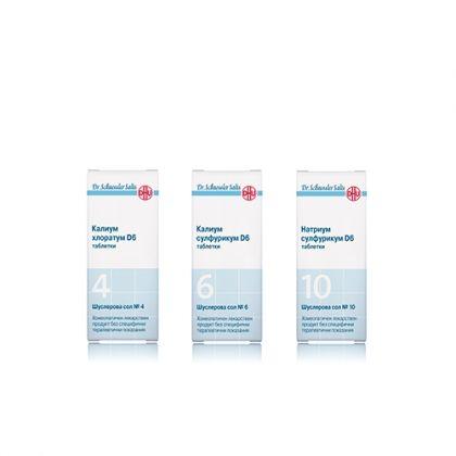 Комбинация със Шуслерови соли за Детоксикация 4, 6, 10