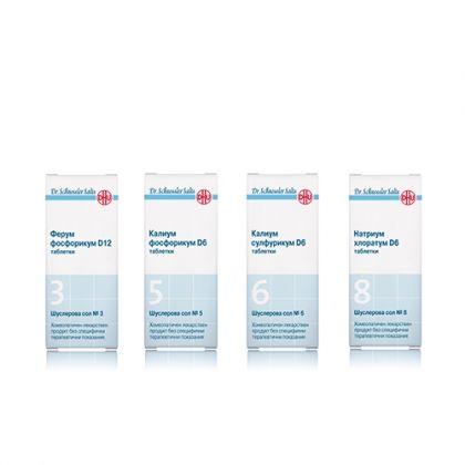 Комбинация със Шуслерови соли за Подобряване на паметта 3, 5, 6, 8