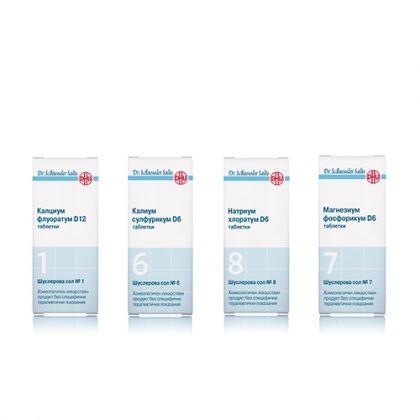 Комбинация със Шуслерови соли при Псориазис 1, 6, 7, 8