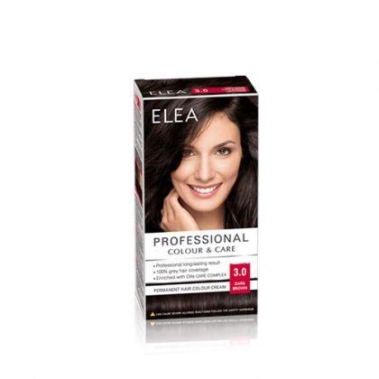ELEA Professional Colour & Care / Елеа боя за коса № 3.0 Тъмно кафяв