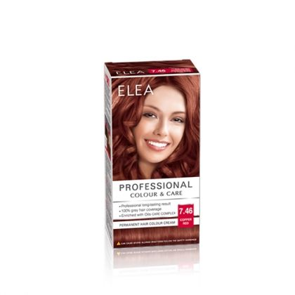 ELEA Professional Colour & Care / Елеа боя за коса № 7.46 Медно червен