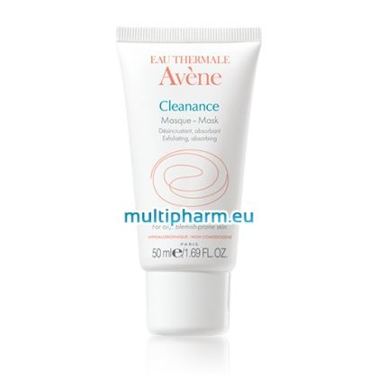 Avene Cleanance / Ексфолираща абсорбираща маска за мазна и акнеична кожа 50ml