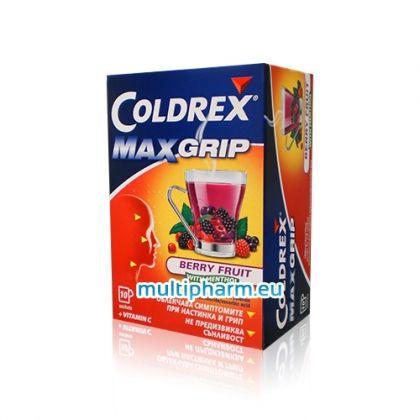 Coldrex / Колдрекс МаксГрип горски плод и ментол при настинка и грип 10 сашета