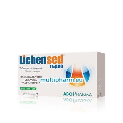 Abo Pharma Lichensed / Лихенсед за облекчаване на дразненето и болките в гърлото 16 таблетки за смучене