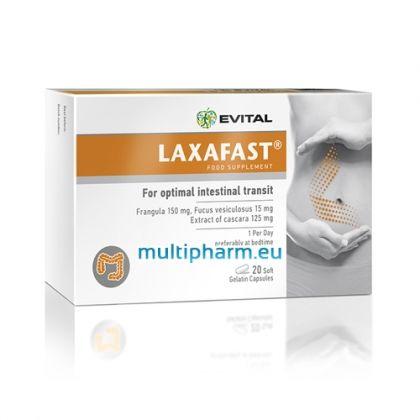 Evital Laxafast / Лаксафаст хранителна добавка с лаксативен ефект 20капс