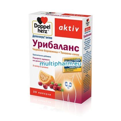 Doppelherz / Урибаланс за подкрепа на здравето на уринарния тракт 30капс
