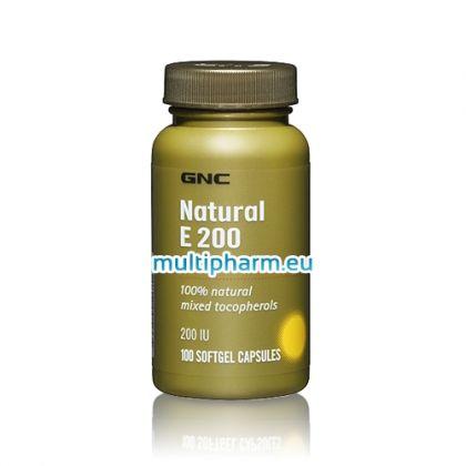 GNC Natural E / Витамин Е  100 меки капсули