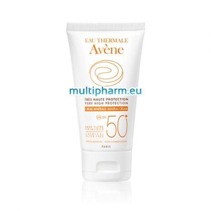 Avene / Слънцезащитен минерален крем за нетолерантна кожа SPF50+  50ml