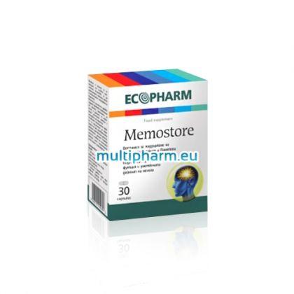Memostore / Мемостор за подкрепа на мозъчната функция и паметта 30капс