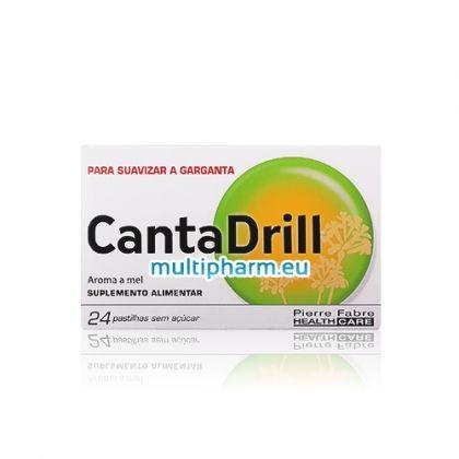 CantaDrill / КантаДрил допринася за комфорта на гърлото при дразнене и болки 24табл за смучене