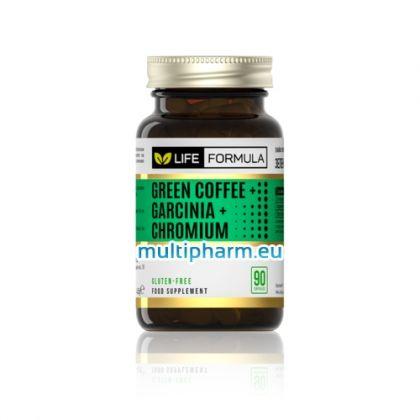 Life Formula / Зелено кафе, гарциния и хром за отслабване 90капс