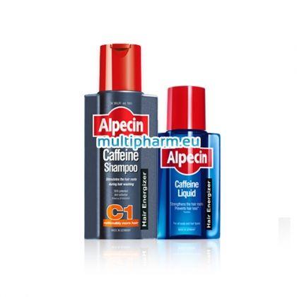 Промо Alpecin / Алпецин Кофеинов шампоан срещу наследствен косопад 250ml + Подарък Алпецин Кофеинов тоник 75ml