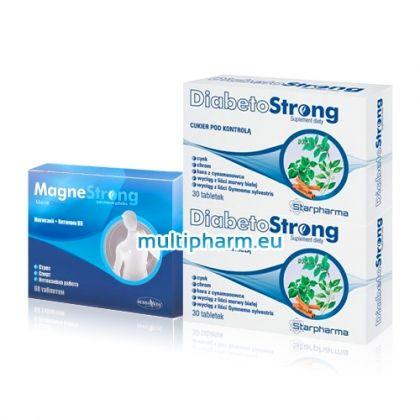 Промо: DiabetoStrong / ДиабетоСтронг за нормализиране на кръвната захар 30табл 2бр + Подарък МагнеСтронг 30табл