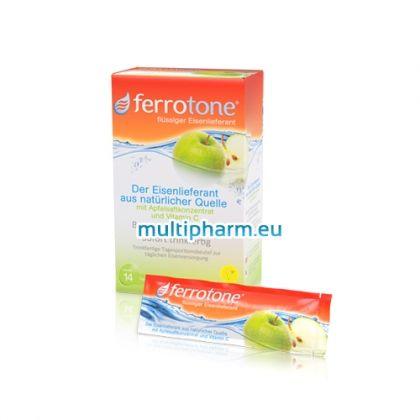 Феротон хранителна добавка с ябълков сок, витамин C и желязо 14сашета