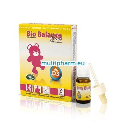 Bio Balance / Био Баланс Синбиотик с Витамин D3 капки за кърмачета и новородени 30 дневни дози