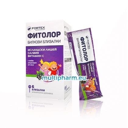 Fortex / Фитолор Билкови близалки с благоприятно въздействие върху гърлото за деца 6бр