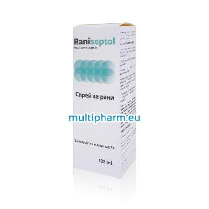 Raniseptol / Ранисептол Спрей за рани 125ml