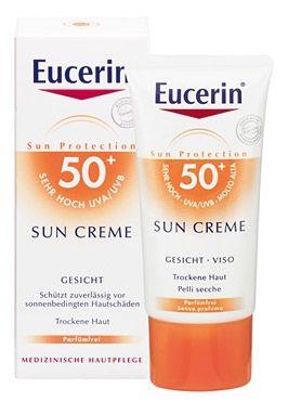 Eucerin / Юсерин Слънцезащитен крем за лице за суха кожа SPF50+ 50мл.