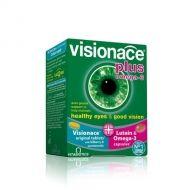 Visionace+Omega 3 / Вижънейс + Омега 3 за здрави очи и добро зрение 28капс + 28табл