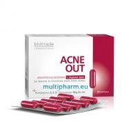 Biotrade / Биотрейд Акне Аут хранителна добавка за мазна и склонна към акне кожа 30капс