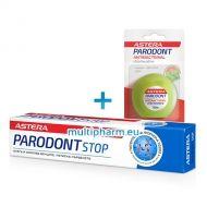 Промо: Астера Пародонт Стоп паста при кървящи венци 75ml + Пародонт Антибактериал конци за зъби 50m