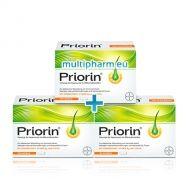 Промо пакет: Priorin / Приорин хранителна добавка за здрава и красива коса 60капс  2бр + 1бр Подарък