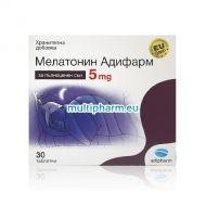 Адифарм Мелатонин за пълноценен сън 5mg 30табл